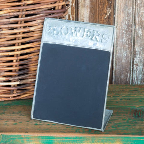 Chalkboard Tin Stand-Up for Desk Office or Kitchen #800-61