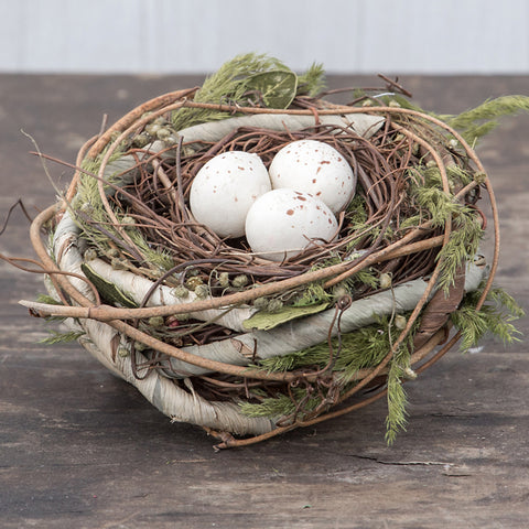 Grapevine Nest with Eggs #117-333