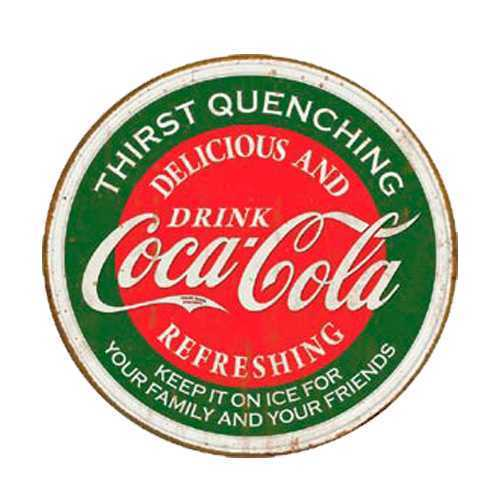 Coca Cola Thirst Quenching Tin Sign #557