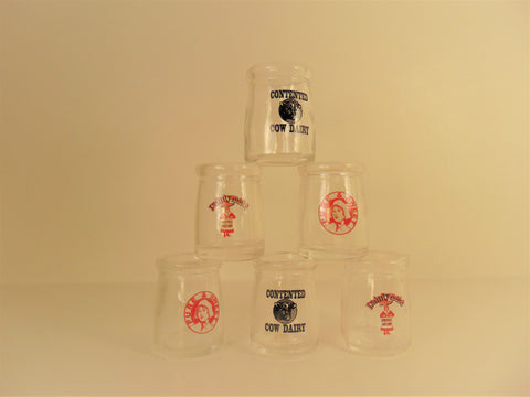Mini Creamer Bottles Set of 6 Vintage Style #546
