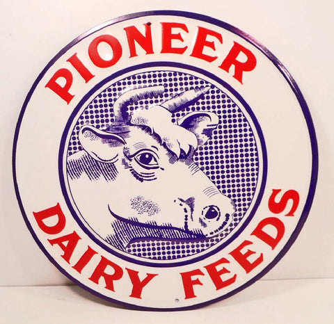 Pioneer Dairy Feed Tin Sign #558