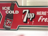 Seven Up 7UP Tin Sign Vintage Style #547