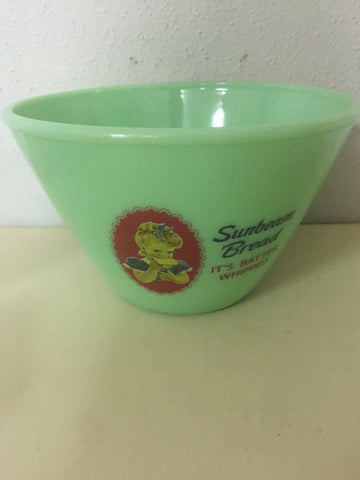 Jadeite Sunbeam Bread Advertising Mixing Bowl #502