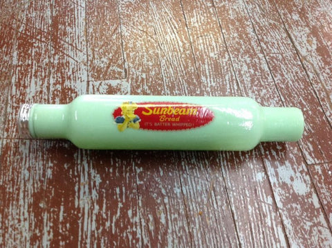 Jadeite Green Rolling Pin Sunbeam Bread Advertising #534JSB