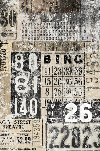 Grunge Numbers Decoupage Craft Paper by Roycycled Papers