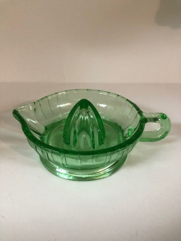 Juicer Green Reproduction Depression Glass Lemon Lime Reamer #507