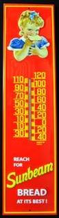 Sunbeam Bread Tin Thermometer Garden Farmhouse Porch Yard Decor Man Cave #511