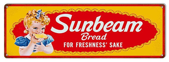 Sunbeam Bread Tin Advertising Sign #512
