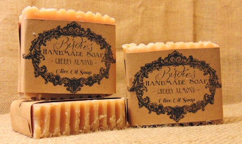 Handmade Olive Oil Soap Cherry Almond