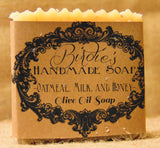 Handmade Olive Oil Soap Oatmeal Milk and Honey