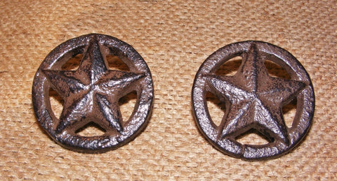 Cast Iron Rustic Star Drawer Pulls #201