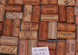 Wine Corks Lot of 50 All Natural Recycled