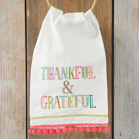 Natural Life Thankful and Grateful Tea Towel 900-123