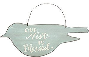 "Hanging Sign ""Our Nest is Blessed""  #871"