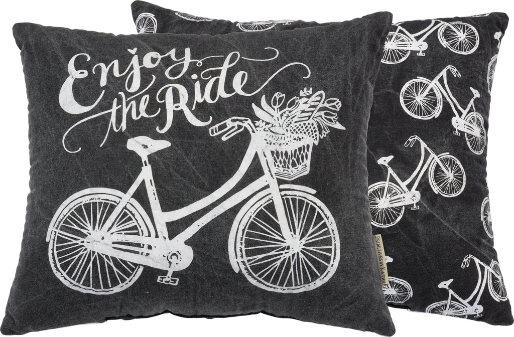 "Pillow ""Enjoy the Ride"" for Bicyclist #P-118"