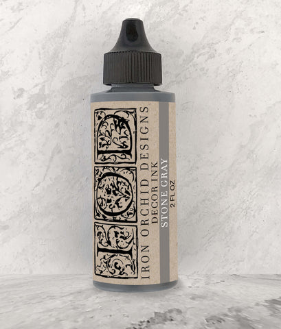 IOD Decor Ink Stone Gray 2 oz. by Iron Orchid Designs