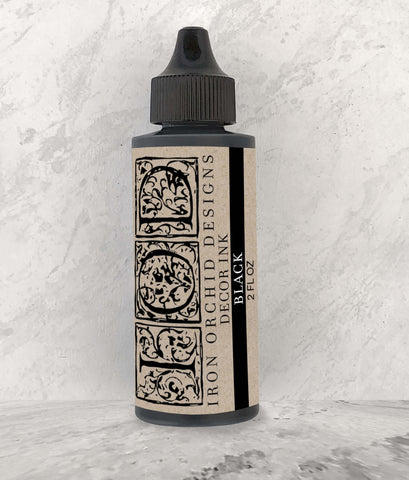 IOD Decor Ink Black 2 oz. by Iron Orchid Designs