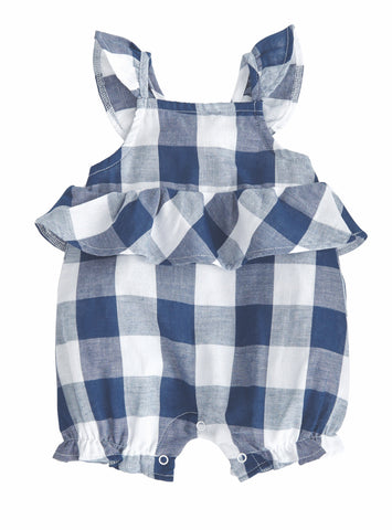 Gingham Blue Romper