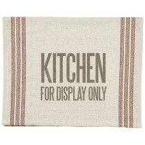 "Tea Towel ""Kitchen For Display Only"" Dish Cloth Gift Home Decor"