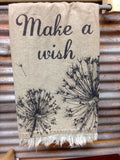"Tea Towel ""Make a Wish"" Inspirational Kitchen Dish Cloth"