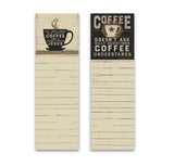 "Notepad - SET OF 2 - ""Coffee Understands"" #1207"