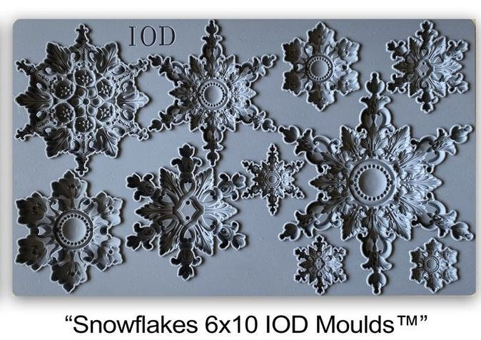 IOD Decor Mould Snowflakes by Iron Orchid Designs