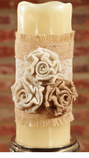 Triple Rosette Candle & Wine Wrap