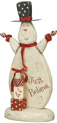 Snowman Wooden Stand-up Christmas Decor #910