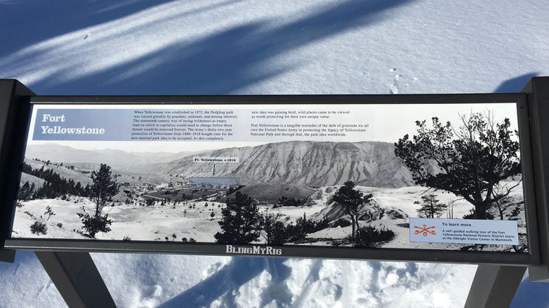 Fort Yellowstone sign from Upper Terrace trail