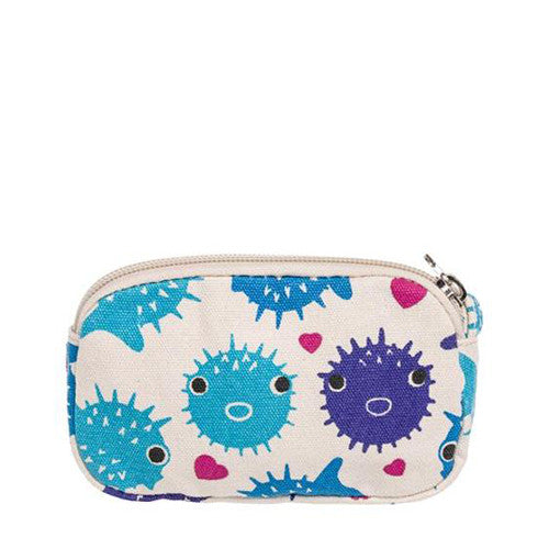 Puffer Fish Clutch with Strap