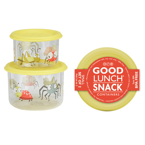 Icky Bugs Good Lunch Snack Containers Small Set of 2