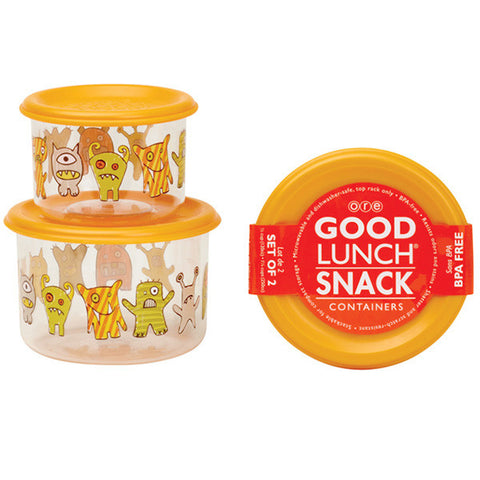 Hungry Monsters Good Lunch Snack Containers Small Set of 2