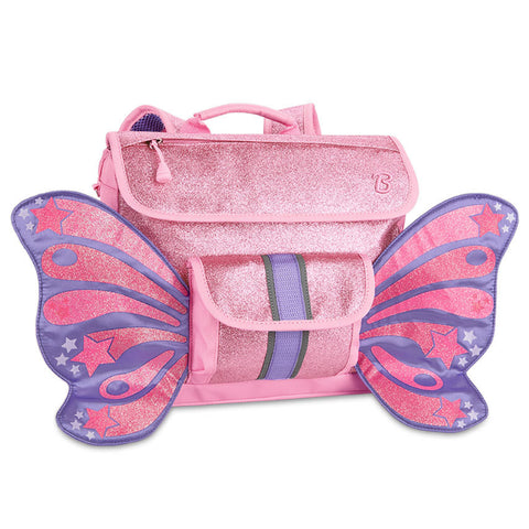 Butterflyer Pink Glitter Backpack Small