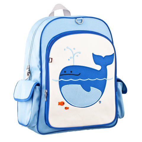 Big Kid Backpack: Lucas Whale