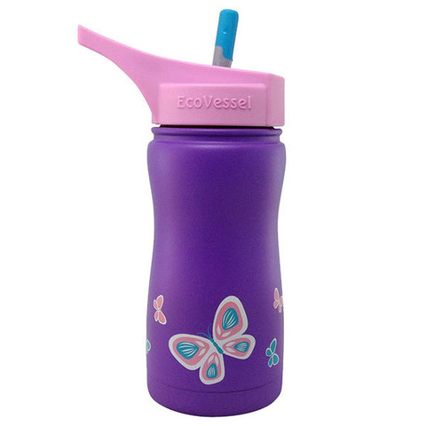 Frost Insulated Stainless Steel Bottle Purple Butterfly