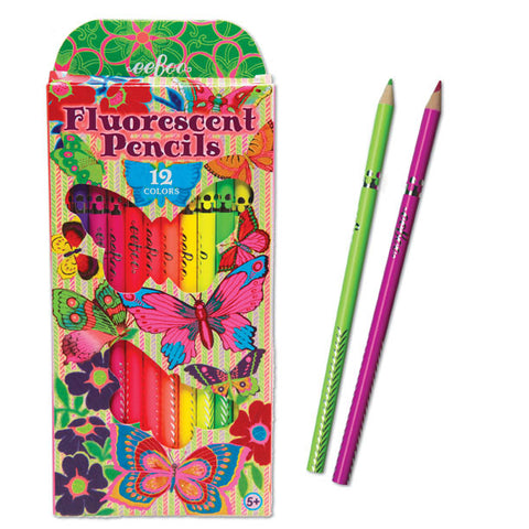 Butterflies Fluorescent Pencils