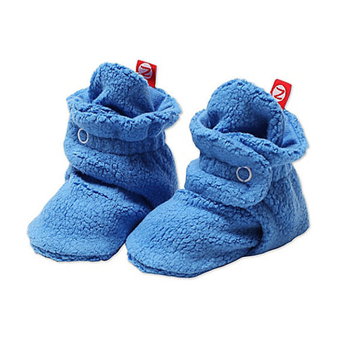 Cozie Fleece Booties - Periwinkle