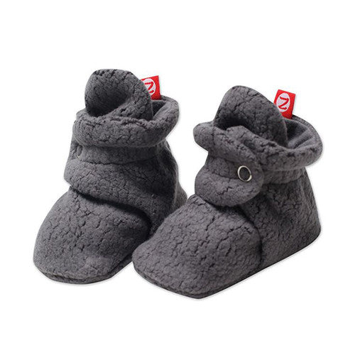 Cozie Fleece Booties - Gray