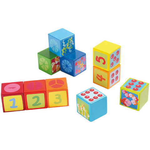Number Dice Building Blocks