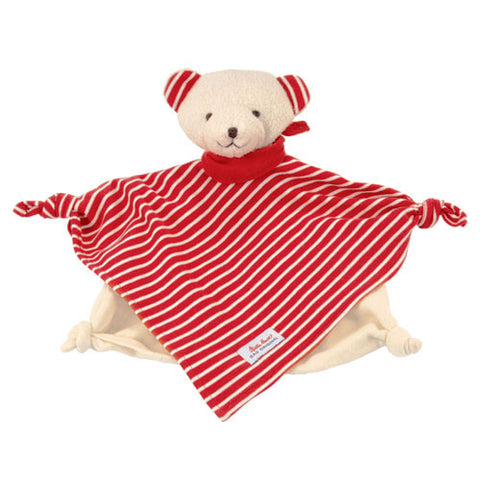 Organic Towel Doll Bear Red