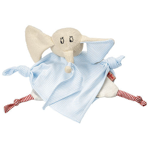 Organic Towel Doll Striped Elephant
