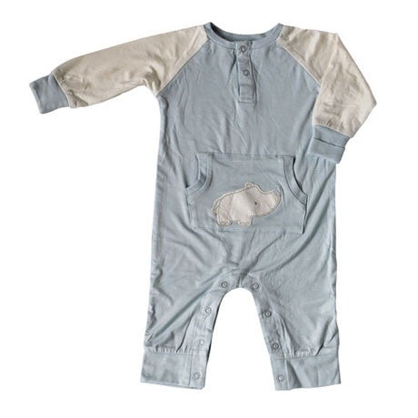 Bamboo Long Sleeve Romper - Sea Breeze Rhino