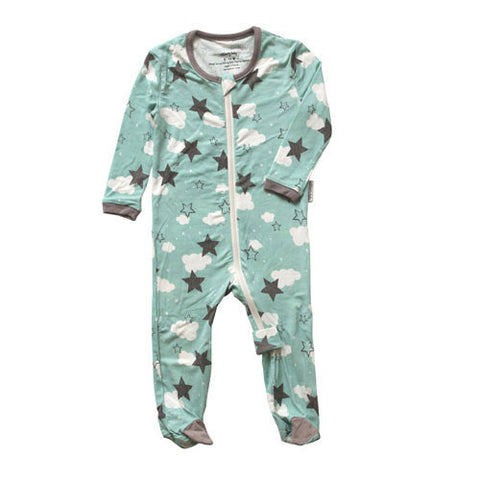 Bamboo Footed Sleeper – Mint Star