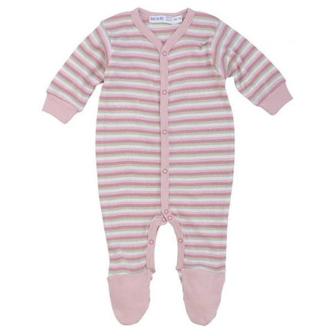 Footie Pink Stripes