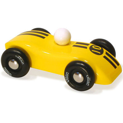 Striped Yellow Race Car from Vilac