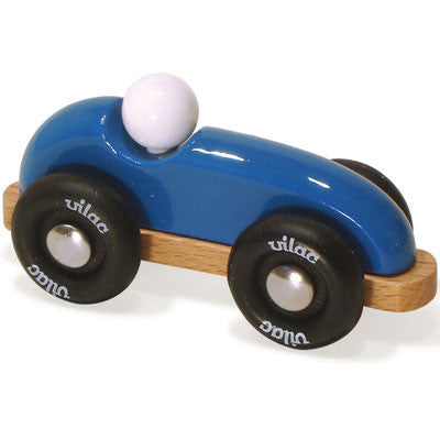 Mini Vintage Blue Race Car from Vilac
