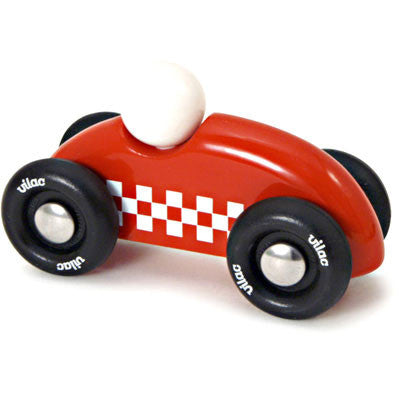 Mini Red Checkered Race Car from Vilac