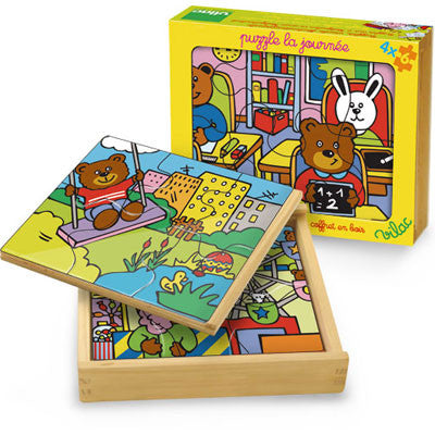 Buddy Bear 4 in 1 Puzzle from Vilac