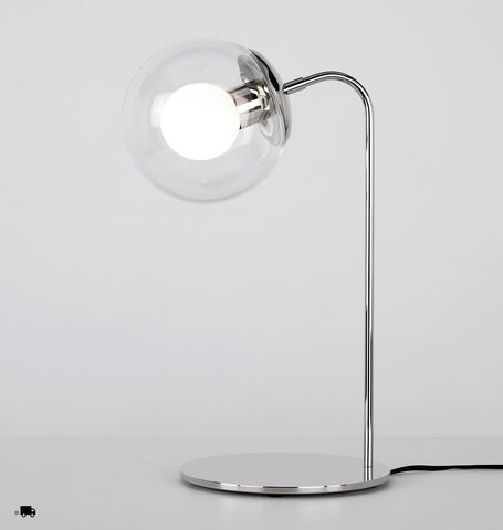 Desk Lamp (Polished nickel/Clear)