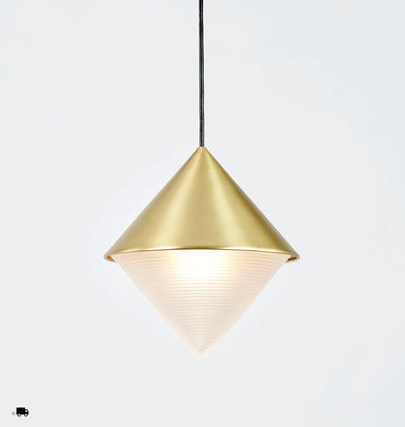 Pendant - Cone (Brushed brass)